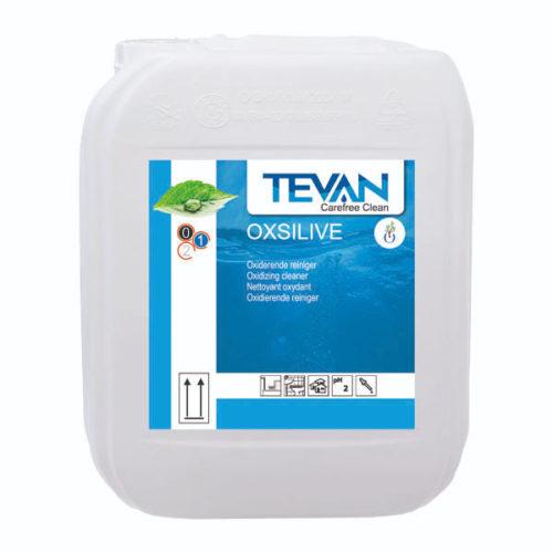 Bidon 10 litres Nettoyant Tevan Oxsilive à base de peroxyde d'hydrogène
