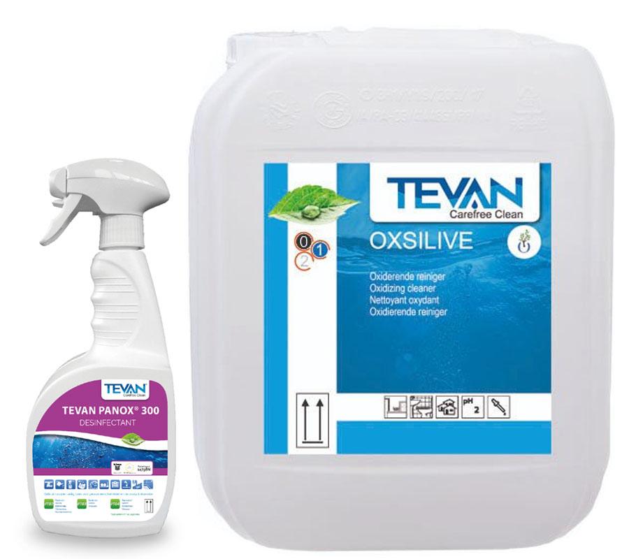 Désinfectant panox 300 avec le nettoyant oxydant Oxsilive