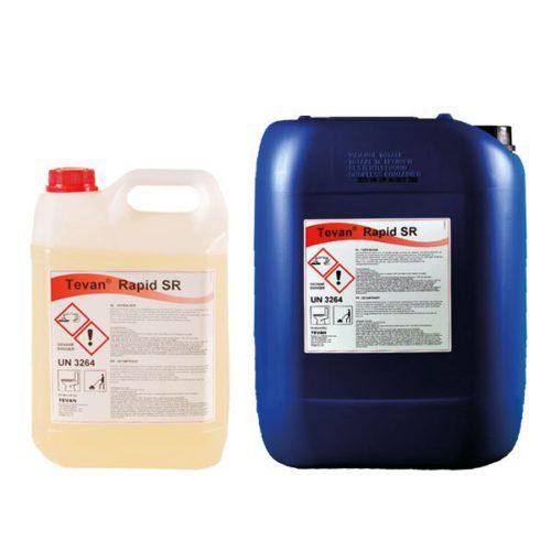 Différent packaging Tevan Rapid SR : Nettoyant concentré fortement acide à base d'acide chlorhydrique