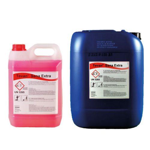 Bidon de 5 et 20 litres de Tevan Sana Extra Plus : un anticalcaire acide concentré