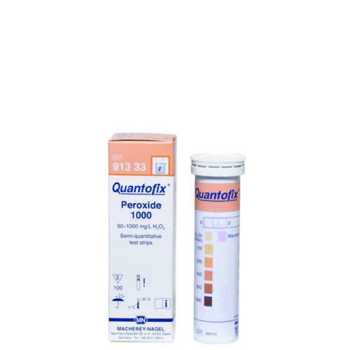 bandelettes test H202 permettant la mesure de la concentration de peroxyde d'hydrogène dans l'eau