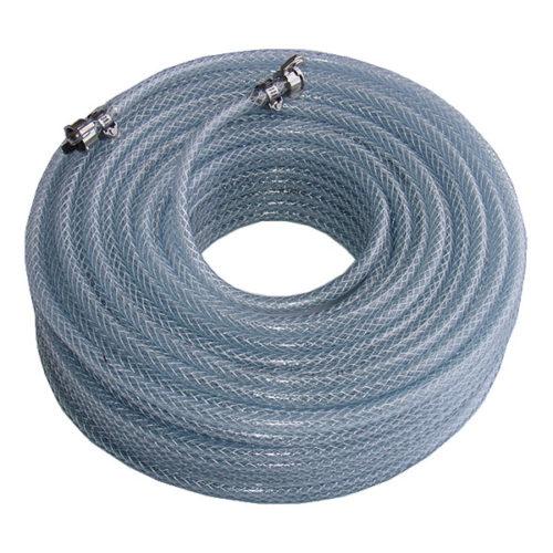Tuyau PVC équipé de raccord Geka et 2 colliers de serrage