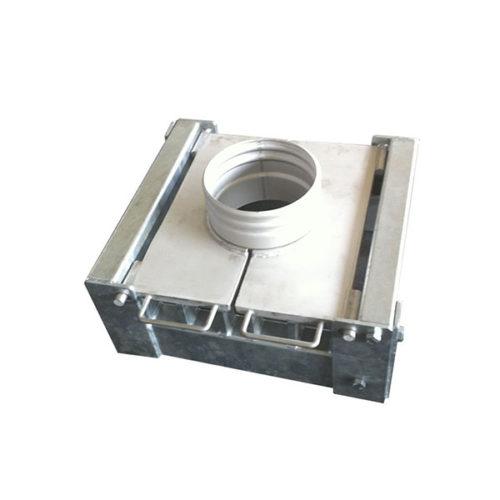 Platine de retenue en acier pour montage colonne de refoulement