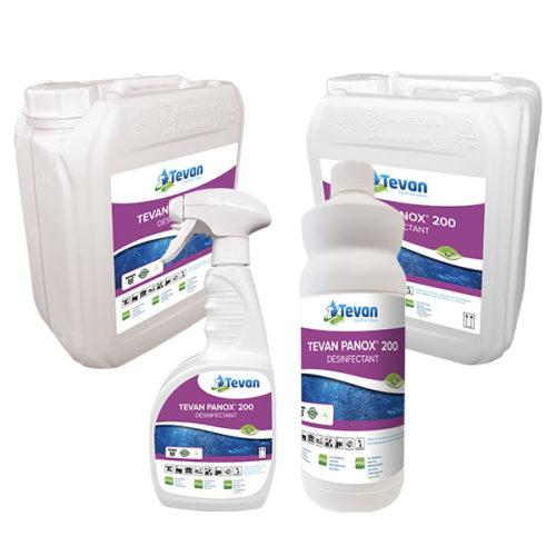 Gamme des désinfectants Tevan Panox 200